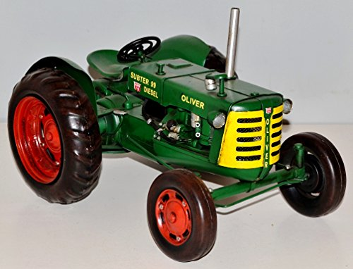 Green Tractor Blechtraktor Blechmodell Oliver Vintage Metal Tin Tractor Model 37359 approx. 30 CM