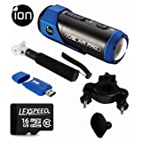 iON AIR PRO Full HD Sports Action Camcorder + iON Bike Mount + 16GB (10) Card + Card Reader + Mono Pod + Cleaning Cloth