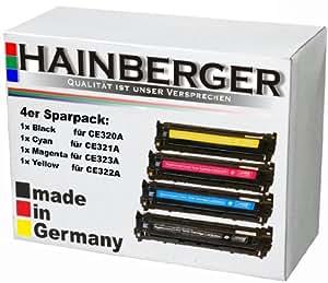 4x Toner kompatibel zu CE320, CE321, CE322, CE323