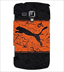 PrintDhaba Leopard image D-6093 Back Case Cover for SAMSUNG GALAXY S DUOS 2 S7582 (Multi-Coloured)