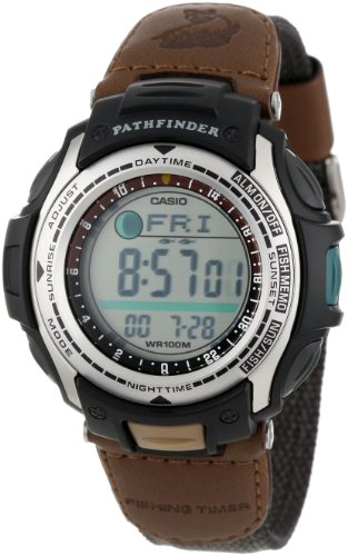 Casio men 39 s pas400b 5v pathfinder resin fishing watch for Casio fishing watch