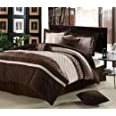 Chic Home Cheetah 8 Piece Oversized And Overfilled Comforter Set Brown Queen