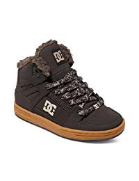 Dc Brown-Gum Rebound Winter Sherpa Lined Kids Hi Top Shoe (Kids Us 6 , Brown)