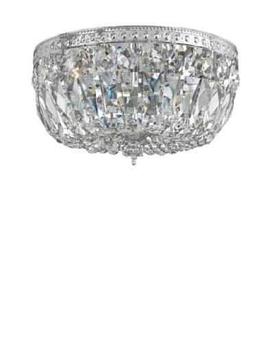 Swarovski Chandeliers by Gold Coast Lighting Crystal Basket, Polished Chrome