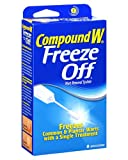 <p>Compound W Freeze Off is a fast and effective treatment for the removal of common warts and plantar warts. Compound W Freeze Off freezes the wart on the spot, causing the wart to fall off with 10 to 14 days, usually after one application</p>