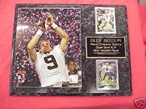 New Orleans Saints Drew Brees SUPER BOWL MVP 2 Card Collector Plaque by J & C Baseball Clubhouse