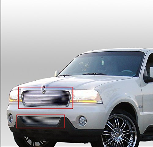 zmautoparts-lincoln-aviator-front-upper-bumper-billet-grille-grill-insert-combo-new