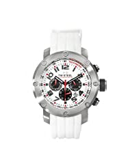 TW Steel Men's TW122 Grandeur Tech White Rubber Chronograph Dial Watch