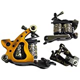 Afterlife Custom Irons Shader Tattoo Machine 1-Wrap Coils - Gold