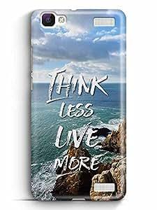 YuBingo Think Less. Live More Designer Mobile Case Back Cover for Vivo V1 Max