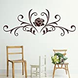 Decal Style Rose Swirl Wall Sticker Large Size-38*14 Inch - B00WSN4DMS