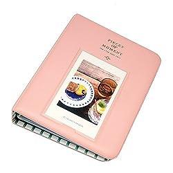 1 X 64 Pockets Photo Album for Mini Fujifilm Instax Mini 8 7s 25 50s 90 Polaroid & Name Card(Pink)