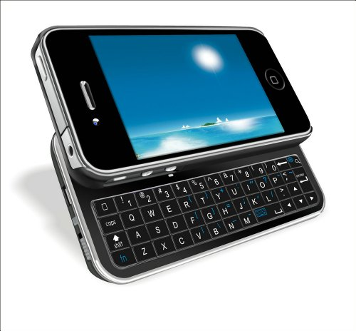 Sanoxy® Ultra-Thin Wireless Bluetooth 2.0 Slide-Out Back Light Keyboard Case Protector For Iphone4/4S-Black