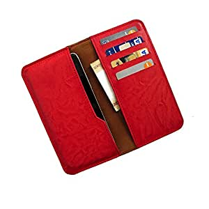 i-KitPit : PU Leather Wallet Flip Pouch Case For Sony Xperia C (RED)