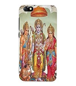 ColourCraft Lord Ram Laxaman Janaki and Hanuman Design Back Case Cover for HUAWEI HONOR 4X