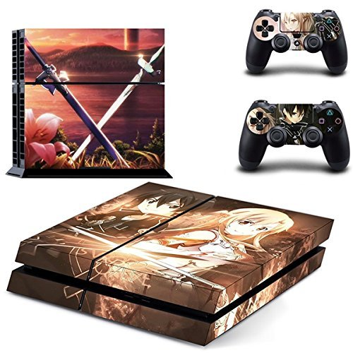 you-loving-sword-art-online-sao-asuna-kirito-vinly-skin-sticker-for-ps4-system-playstation-4-console