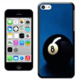 Fancy A Snuggle 'Lucky Magic Black Pool Ball Number 8' Hard Case Clip On Back Cover for Apple iPhone 5C