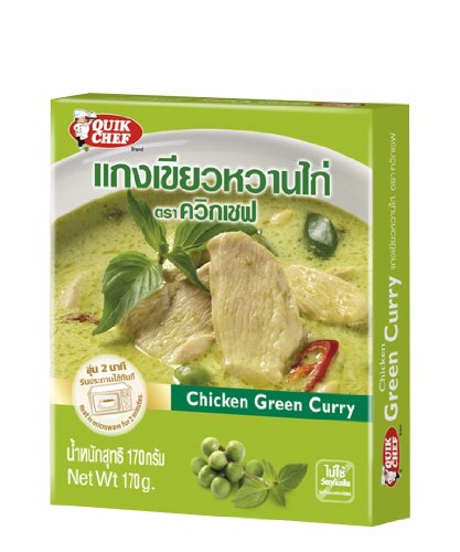 Quikchef : Chicken Green Curry 6 Oz. Product Of Thailand