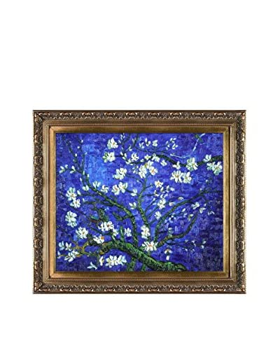 Vincent Van Gogh Branches Of An Almond Tree In Blossom (Sapphire Blue) Hand-Painted Reproduction