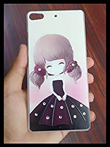 Fancy New Arrival Touch Feel Stylish Girl Printed Rhinestone Diamond 3D Relief art luxury hard Plastic back cover phone case for Gionee Elife S7