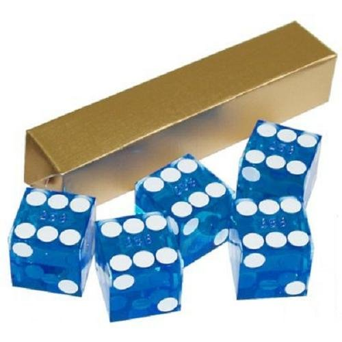 Best Deals! Trademark Poker 19mm A Grade Serialized Set of Casino Dice (Blue)