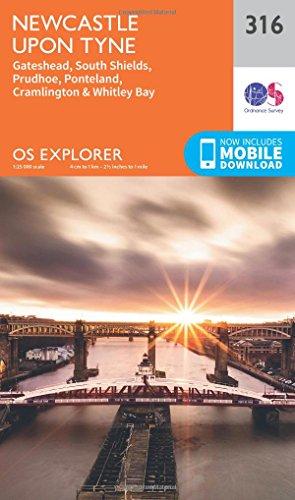 Newcastle Upon Tyne 1 : 25 000 (OS Explorer Map)