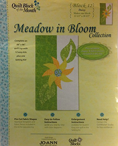 Meadow in Bloom Block 12 Daisy Quilt Blocks by Jo-Annn