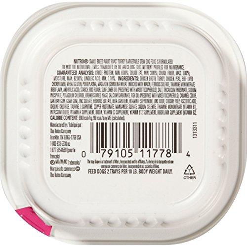 NUTRO Small Breed Adult Roast Turkey and Vegetable Stew Dog Food, 3.5 oz. (Pack of 24)_Image1