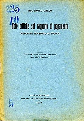"""ESTRATTO DA """"DIRITTO E PRATICA COMMERCIALI"""" - ANNO 1927 - FASCICOLO 1"""