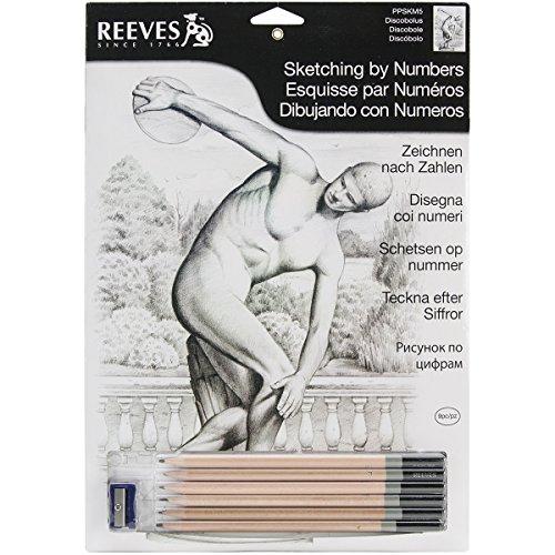 Reeves Diskobolus Sketching by Numbers, Medium