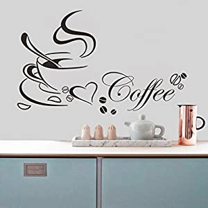 decor coffee cup home decals vinyl art wall sticker for dining room