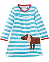 Toby Tiger Girl's Organic Sausage Dog Striped Dress