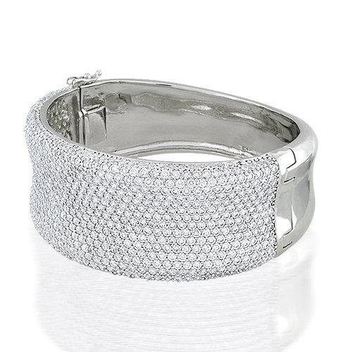 Bling Jewelry Silver Pave CZ Bangle Bracelet