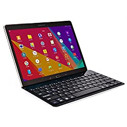 Cooper Cases(TM) GoKey Sony Xperia Z2 Tablet LTE (SGP541/SGP521/SGP551) Smartphone/Tablet Wireless Bluetooth Keyboard in Black (Aluminum Alloy Build; US English QWERTY Keyboard; Built-in Stand)
