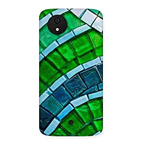 Special Green Footpath Back Case Cover for Micromax Canvas A1