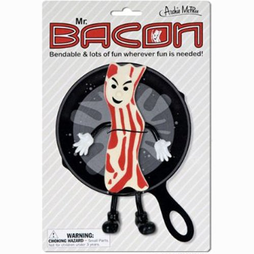 Accoutrements Mr. Bacon Bendable 6 Inch Novelty