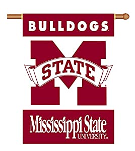 Buy BSI Indoor Outdoor Sports Banner Mississippi State Bulldogs 2-Sided 28 X 40 Banner With Pole Sleeve by BSI