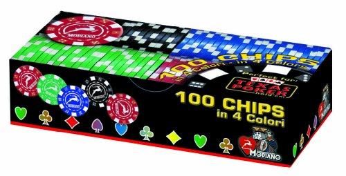 MODIANO Set 100 chips da 11,5g in 4 colori - senza valore