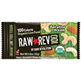 Raw Rev 100, Spirulina & Cashew 100 Calorie Organic Live Food Bar, 0.8-Ounce Bars (Pack of 26)