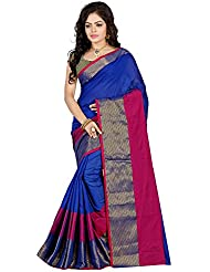 Hitarth Fashion Blue Color Cotton Silk Saree