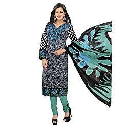 Rajnandini Women's Multi colour pure cotton Printed Unstitched salwar suit Dress Material (Free Size)