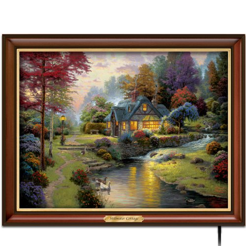 Thomas Kinkade Stillwater Cottage Canvas Print Wall Decor by The Bradford Exchange