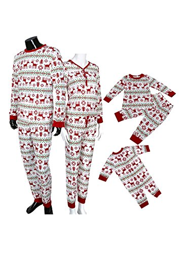 [FAPIZI ♥ family costumes ♥ Christmas XMAS Family Pajamas Set Deer Sleepwear Nightwear Pyjamas Gift (1M,] (Cousin It Addams Family Costume)