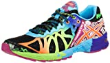ASICS Womens Gel-Noosa Tri 9 Running Shoe,Black/Neon Coral/Green,7.5 M US