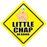 Little Chap On Board Car Sign Little Chap On Board Little Man On Board Baby on Board Sign Baby on Board Maternity Paternity Pregnancy Baby Shower Baby Car Sign Baby Sign Decal