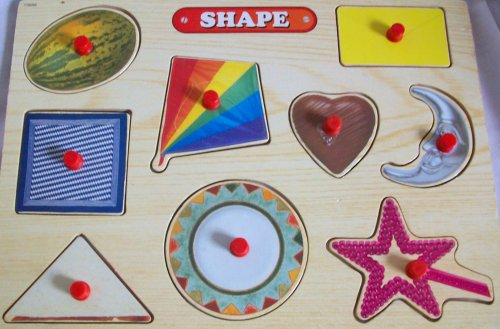 Cheap ghu 11″ X 8″ Wooden Pegged Shapes Puzzle Toy (B0026ISRAO)