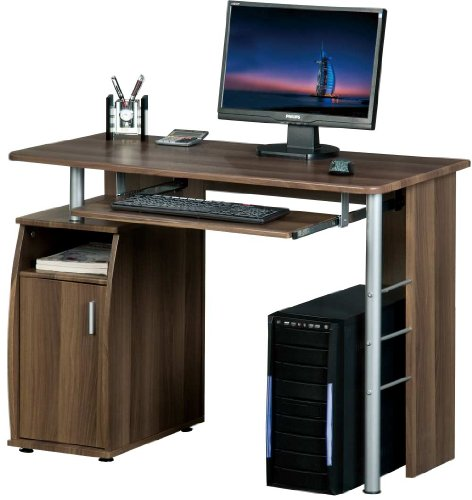Piranha PC1w COMPUTER DESK with a Cupboard and Shelves