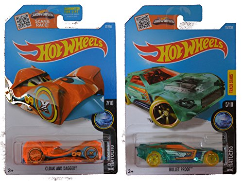 Hot Wheels 2016 X-Raycers Bullet Proof & Cloak and Dagger 2-Car Set (Silver Bullet Hot Wheels compare prices)