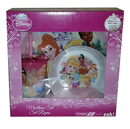 Zak! Disney Princess 3 Piece Mealtime Set