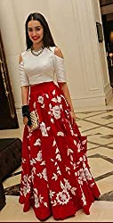 Shree Ganesh Women's Designer Multi-Coloured Silk Semi-Stitched Lahenga Choli [L44arohi red_Multi-Coloured]